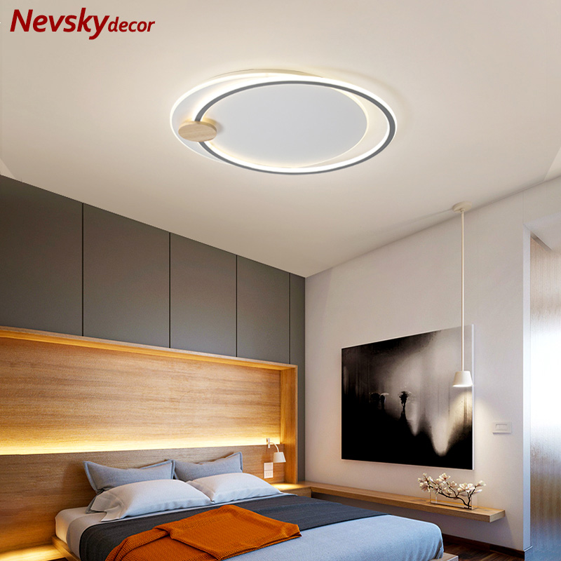 Nordic ceiling lighting bedroom led ceiling lights living room wooden ceiling lamp corridor led kitchen fixture variable light