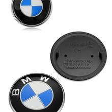 82 мм/74 мм/45 мм черная основа эмблема значок капот передний задний багажник логотип для E46 E39 E38 E90 E60 Z3 Z4 X3 X5 X6 51148132375