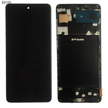 TFT LCD For Samsung Galaxy A71 A715 A715F A715FD LCD Display Touch Digitizer Sensor Glass Screen Assembly Part + Frame +Tools
