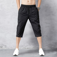 OLOME Plus Size Breeches Mens Summer Thin 3/4 Shorts Men Fitness Bodybuilding Shorts Quick Drying Sportswear Jogger Beach Shorts