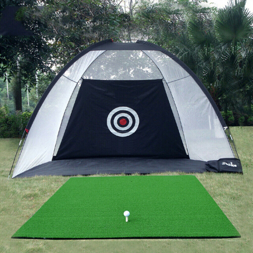 2m Foldable Outdoor Indoor Golf Net Cage Golf Hitting Net Pop Up Driving Chipping Practice Net Training Equipment