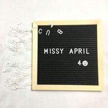 Войлочная доска для писем деревянная рамка Сменные символы цифры персонажи доски для сообщений для домашнего офиса DIN889
