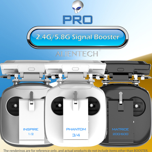 Image 2 - ALIENTECH 3 Pro 2,4/5,8G Antenne Signal Booster Range Extender für DJI Mavic 2/Pro/Air /Mini Phantom 4 Pro V2.0 Inspire 2 Drone