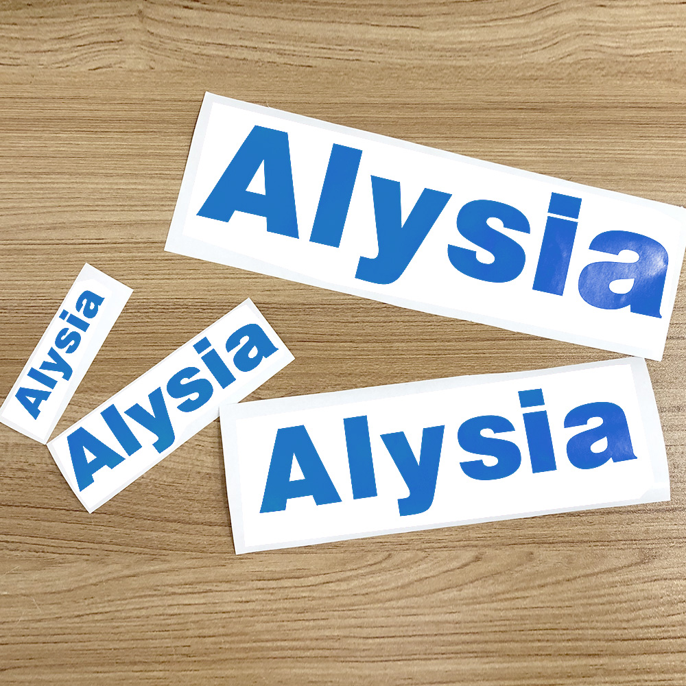 1Pcs Vinyl Custom Die Cut Name Sticker Blue Personalised Matt Label PVC Waterproof Tags For Water Bottle Lanch Box Room Decor