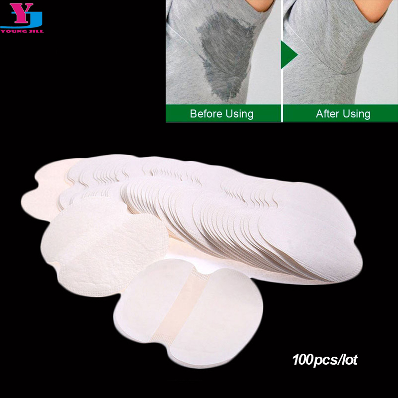 100Pcs ( 50pairs ) Armpit Sweat Pads Underarm Summer Disposable  Absorbing Anti Perspiration Deodorant Unisex Shield Wholesale