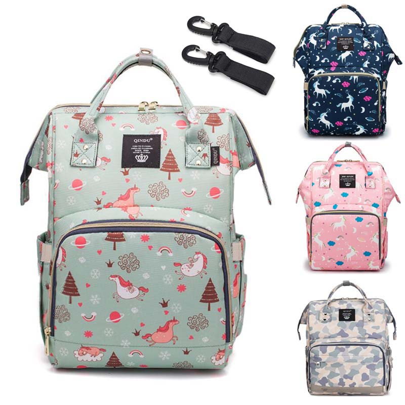 Brand Nappy Backpack Bag Mummy Large Capacity Stroller Mom Baby Multi-function Waterproof Outdoor Travel Diaper Bags Nursing Bag