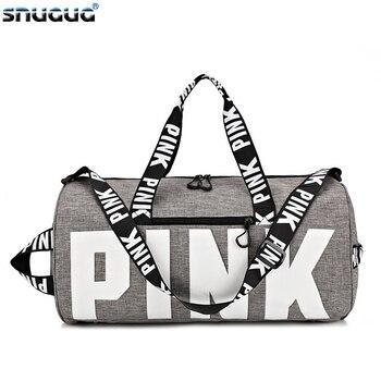 SNUGUG Outdoor Woman Gym Bag New Gym Bag Men Nylon Pink Sports Bags For Fitness Women Sport Bag Travel Handbag/Shoulder Bags 1