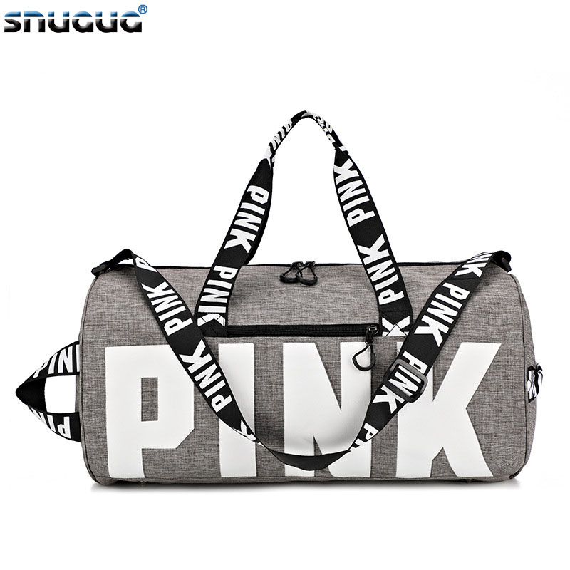 SNUGUG Outdoor Woman Gym Bag New Gym Bag Men Nylon Pink Sports Bags For Fitness Women Sport Bag Travel Handbag/Shoulder Bags