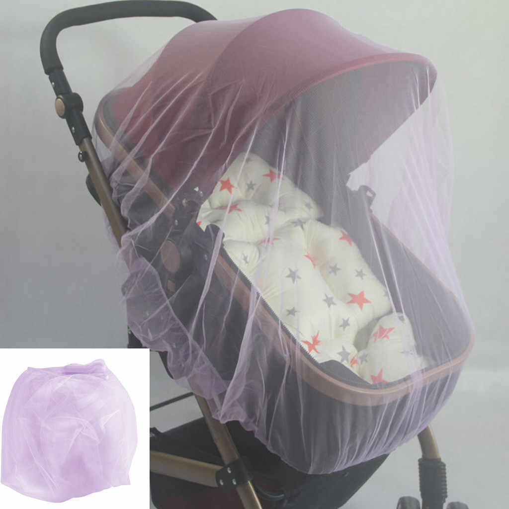 Baby STROLLER mosquito net with elastic edges pushchair pram insects mesh cover