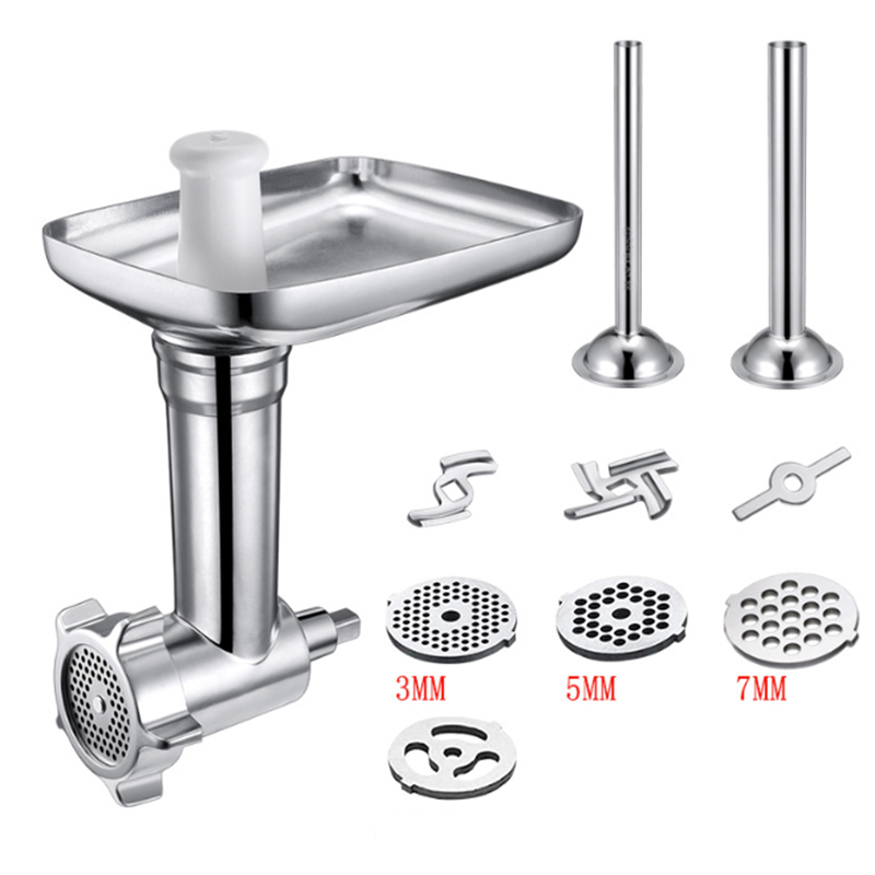 Steel Kitchen Meat Grinders Attachment For Kitchen Aid Stand Mixer Sausage Stuffer Kitchen Appliances chopper Parts