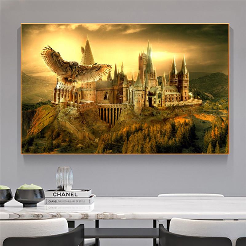 Harries магический мир Сова школьный постер potteres холст настенные