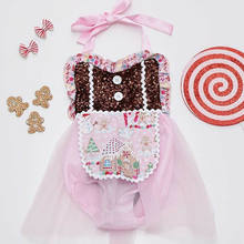 ONS Kind Baby Meisje Kant Rok Romper Jumpsuit Bodysuit Kerst Outfit Kleding(China)