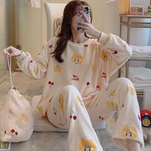Sexy Ever Store Women Winter Floral Long sleeves Pajamas