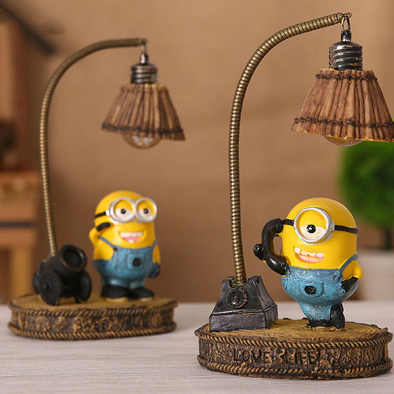 Despicable Me Minion Night Light Home Decor Fixture Resin Lamp For Baby Kid Children Room Led Minions Night Light Birthday Gift