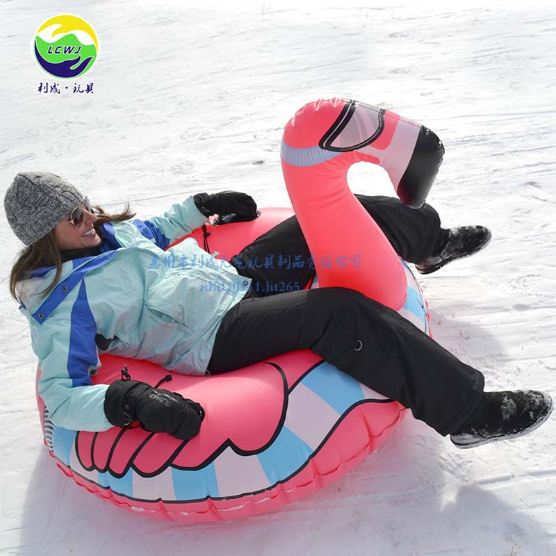 Manufacturers Direct Supply Thick Environmentally Friendly Cold-resistant PVC Inflatable Flamingo Ski Ring A Large Amount Curren