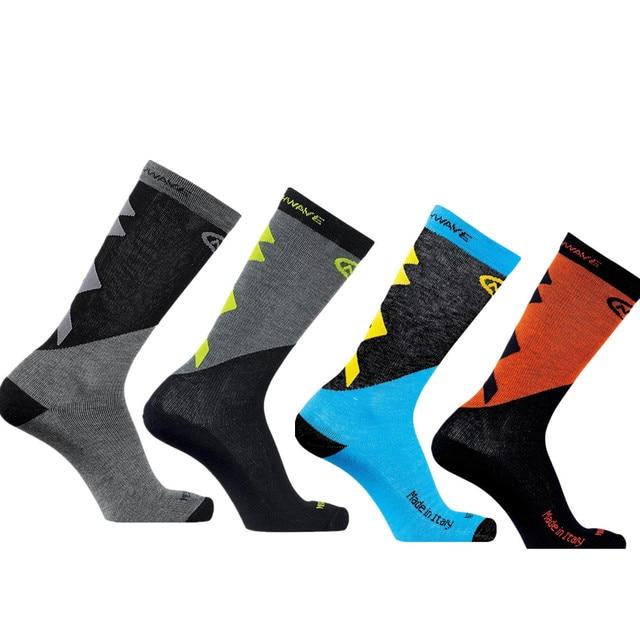 Nw 5 estilo pro equipe ciclismo meias men verão inverno calcetines ciclismo compressão mountain racing bicicleta meias 5