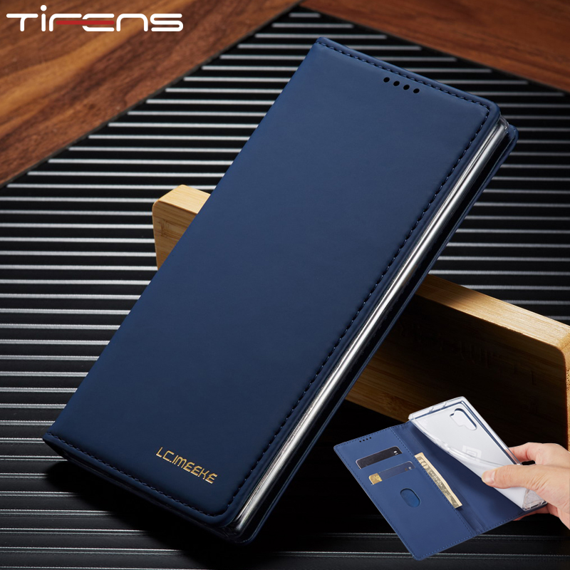 Luxury Leather Flip Wallet Case For Samsung <font><b>Galaxy</b></font> S8 S9 Plus S10 E Note <font><b>9</b></font> 10 A10 M10 A20 A30 A40 A50 <font><b>s</b></font> A70 A51 A71 Phone Cover image
