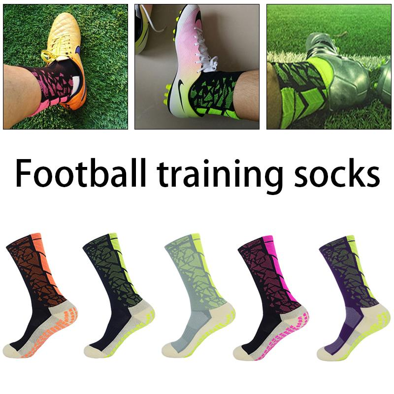 2018 Socks Rubber Band Anti Slip Mid-Calf Soccer Equipment Cotton Fitness Nylon Sports