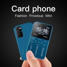 Original novo soyes s10p mini cartão telefone 2g gsm 400mah 1.54 mtmttelefone celular mtk6261m ultra-fino moda crianças tamanho pequeno telefones