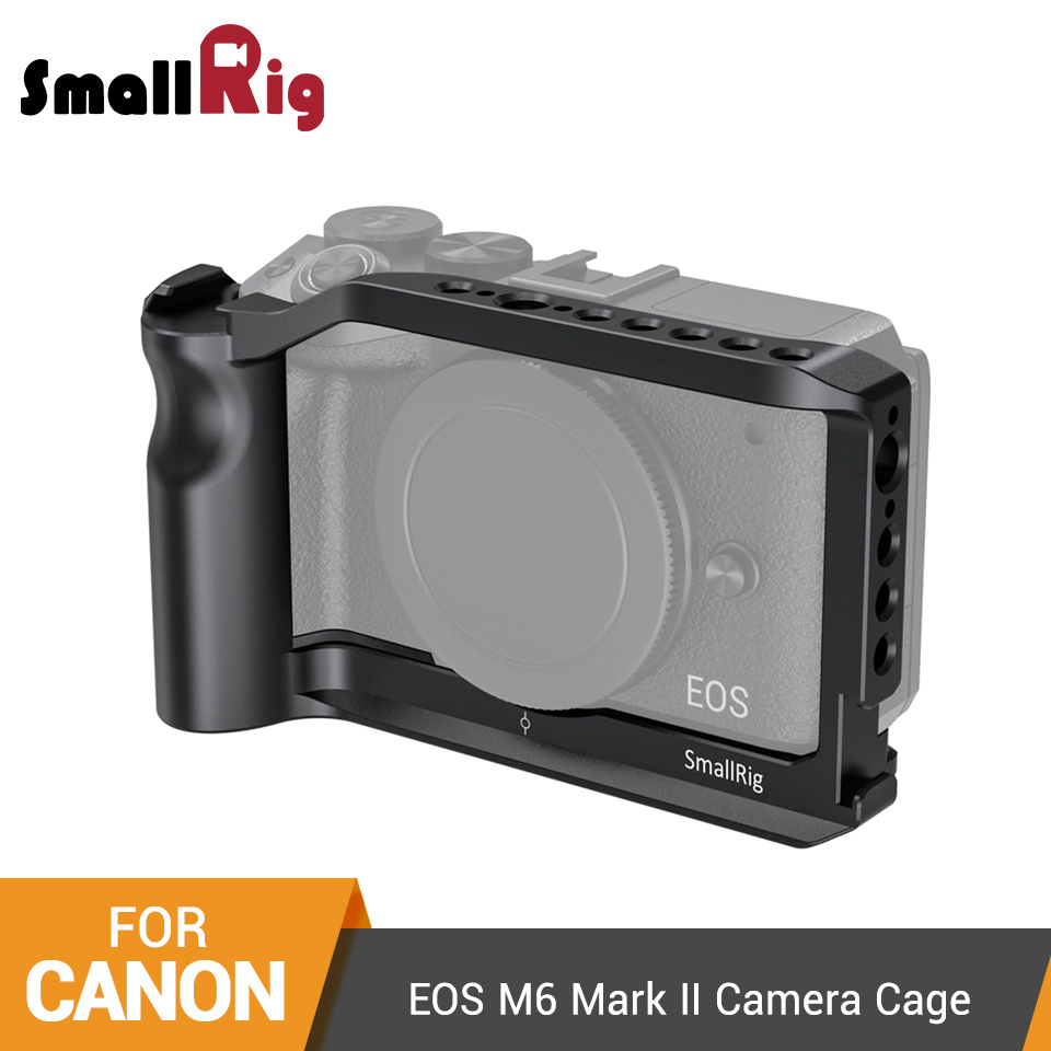 SmallRig M6 Camera Cage For Canon EOS M6 Mark II Dslr Form-fitting Cage With Integrated Handgrip/Cold Shoe Mount Vlog Rig -2515
