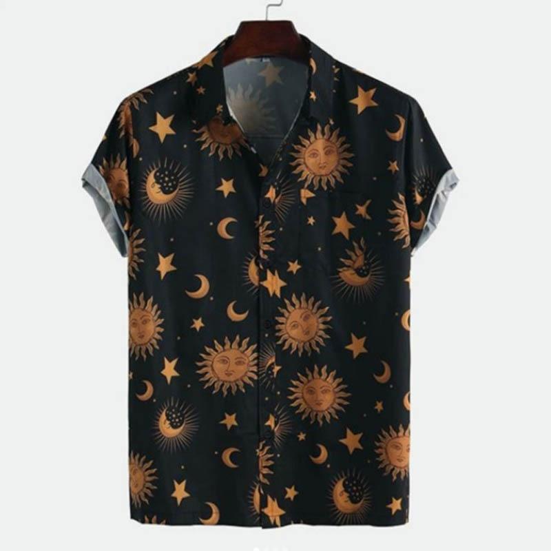 Floral Shirt Men Short Sleeve Button Hawaiian Shirt Male Beach Shirts England Style Streetwear Harajuku Casual Camisa Masculina