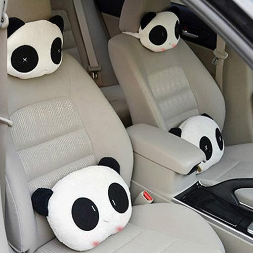 Lovely Creative Panda Auto Car Neck Rest Support Cushion Adjustable Bone Headrest Pillows Mat Pad Interior Accessories