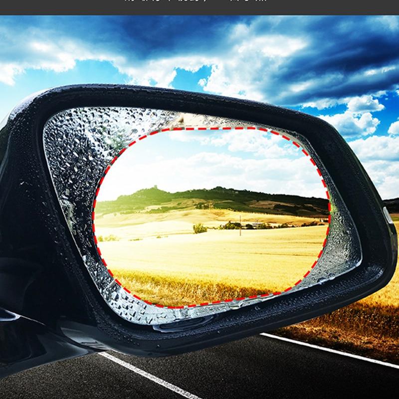 1PCS Specchio della Parte Posteriore Dell'automobile Pellicola Protettiva Anti Fog Finestra Trasparente Antipioggia Rear View Mirror Protettiva Morbida Pellicola Accessori Auto