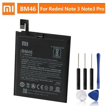 Original Replacement BM46 Battery For Xiaomi Redmi Note 3 Pro Hongmi Note3 Redrice Note 3 Genuine Phone Battery 4050mAh original bm46 battery for xiaomi redmi note 3 phone high quality replacement batteries 4050mah