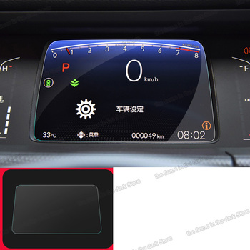 lsrtw2017 car dashboard screen navigation gps lcd touch protector anti-scratch sticker film for honda fit jazz 2020 2021 2022 image