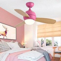 Europese Stijl Woonkamer Slaapkamer Houten Blade Ventilator Verlichting Vintage Massief Hout met Ventilator Verlichting Eenvoudige LED Plafond Ventilator licht een Gen
