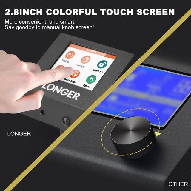 LONGER LK4 3D Printer Touch Screen 3D Print with Unique Frame Design Resume Printing Safe Power Supply 3D Printer Kit 4