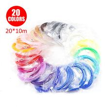 100 Meters 20 Colors PLA Filament Consumables For 3D Printing Pen Accessories Threads 3 D Printer Pens Consumables For Gifts(China)