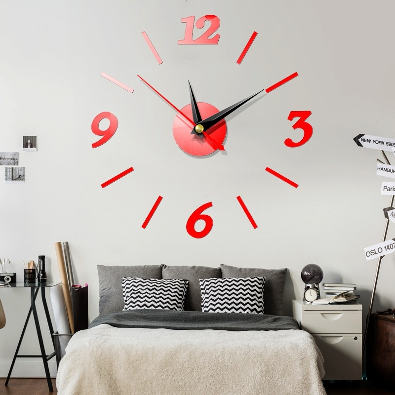 Best Price High Quality Mirror Sticker Wall Clock Home Decoration Ideas And Get Free Shipping A93