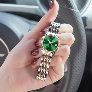 OLEVS  Women Watches Mechanical Watch Luxury Bracelet Wrist Wristwatch Elegant Ladies Automatic Clock Relogio Feminino - discount item  90% OFF Women's Watches