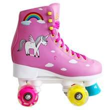 Children's 4 Led Light Wheels Balanced Skates Double Roller Skate Quad Skate High Quality Safety Beginner's Skates
