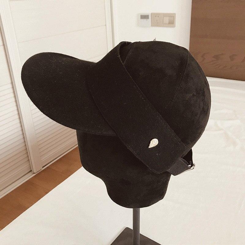 Простая зимняя бейсболка для мужчин и женщин, регулируемый Пустой Топ, утепленная шапка, лыжная Кепка для улицы, повседневный Зимний Козырек, солнцезащитная Кепка, бежевый, черный - Цвет: Black
