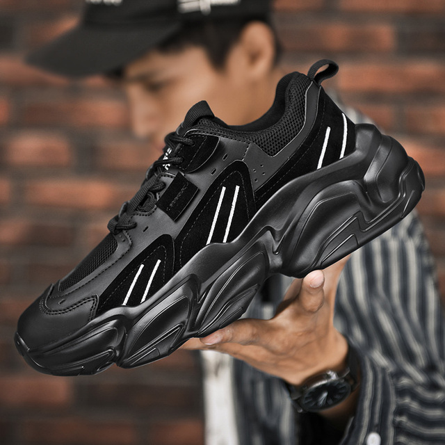 Men Fashion Sneakers Big Size Jogging Shoes Men Casual Shoes Breathable Walking Shoes Men Vulcanize Shoes New Thick Bottom Shoes