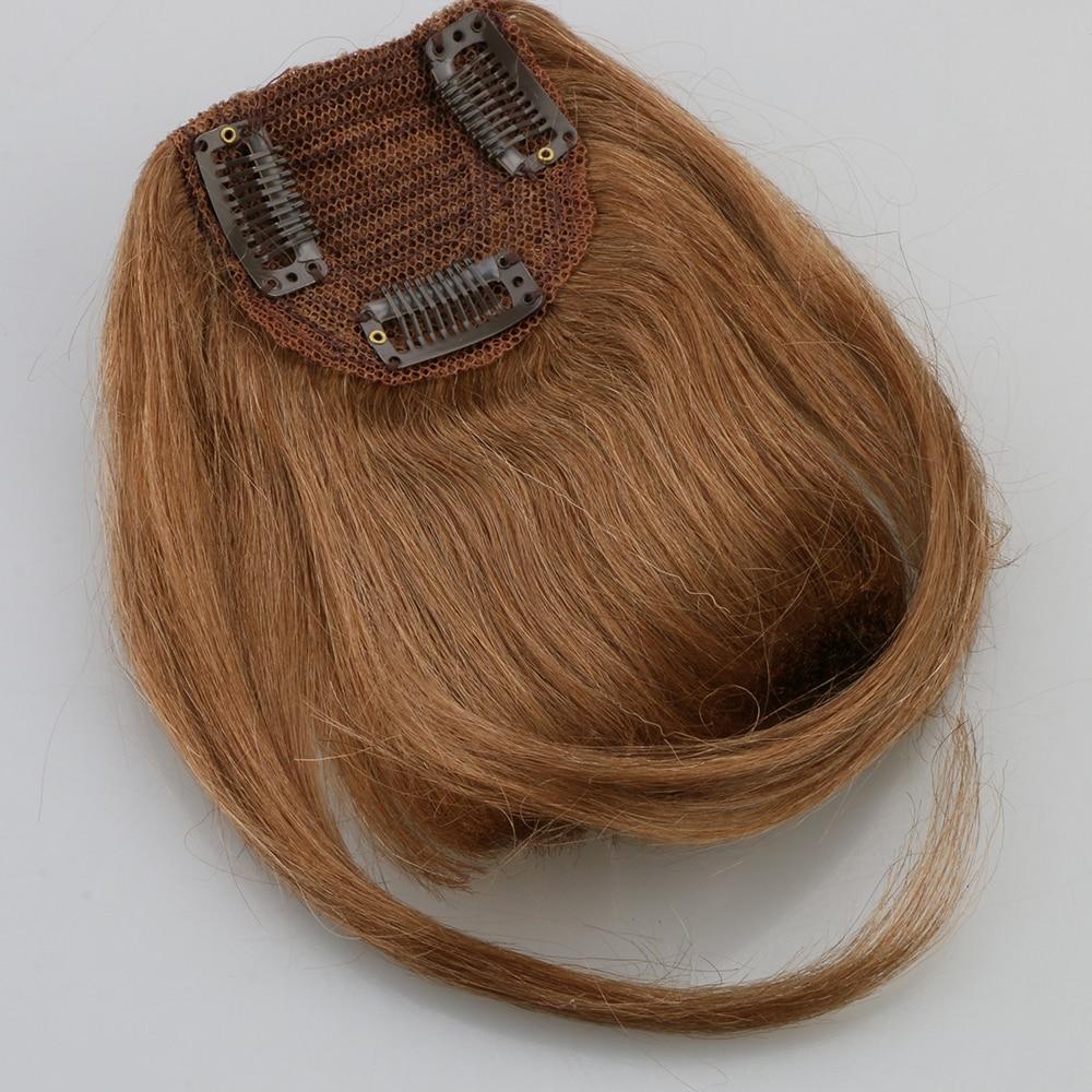 Toysww-franges naturelles avec Clips | Cheveux Remy, cheveux humains, vrais, lot de 3 Clips, Extensions capillaires, 25g, faites Machine