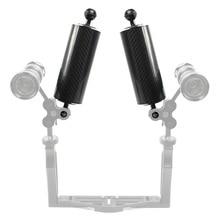 Удлинитель из углеродного волокна, плавучая рукоятка, двойной шарик для SLR камеры, дайвинга для Gopro yi EKEN для экшн камеры OSMO