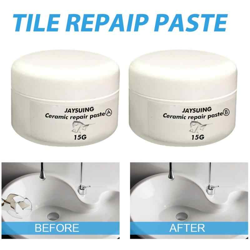 Céramique réparation pâte baignoire carrelage et douche porcelaine Kit de réparation pour fissure puce céramique salle de bain baignoire plancher céramique réparation pâte