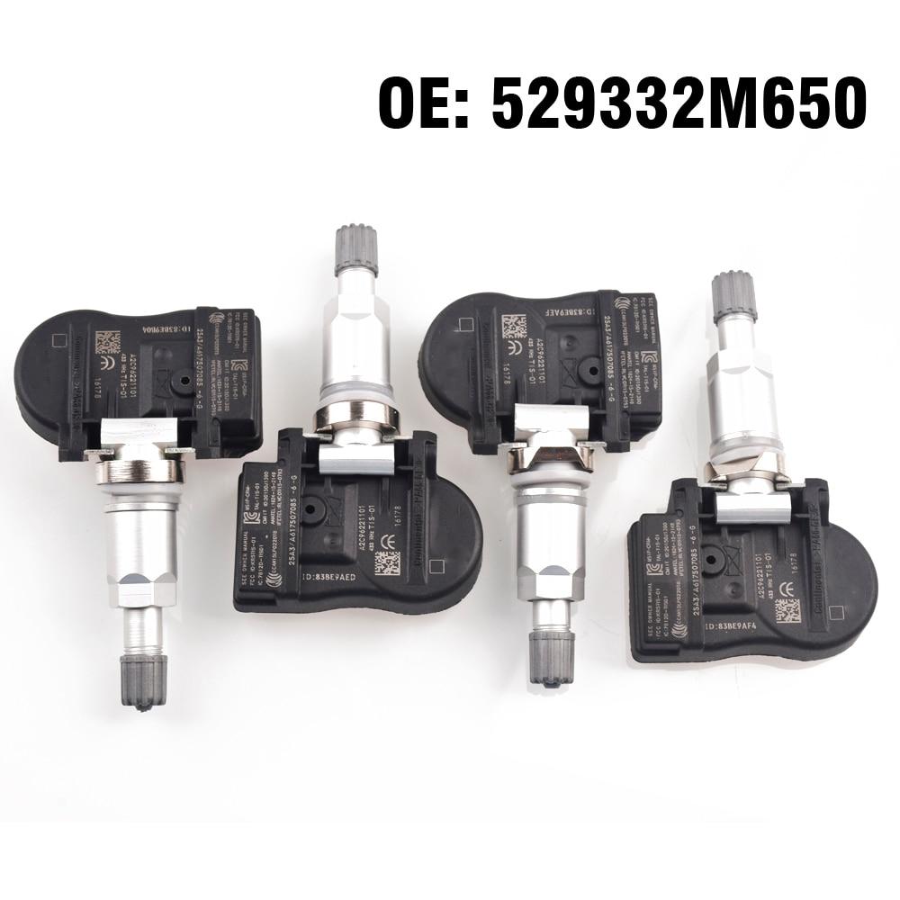 4 PCS Car Tire Pressure Monitor Sensor TPMS 529333N100 529332M650 for Hyundai i25 KIA K5 K4