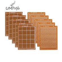 10 sztuk prototypowy papier z miedzi z pcb uniwersalny eksperyment obwód matrycy 5x7CM Diy Kit tanie tanio UMProb 1 2mm 5x7cm PCB 5*7cm 94HB Bakelite Resin