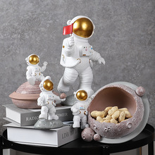 Pen-Holder Decoration Crafts Book-Stand Porch-Storage Astronaut Home-Accessories Living-Room