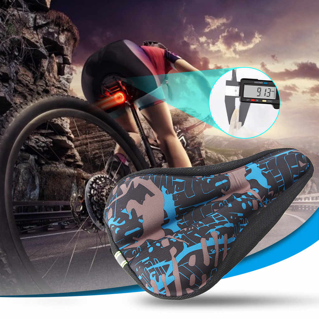 3D Silicone Gel Saddle Cushion Bike Gel Mountain Bicycle Road Bike Seat Cover US