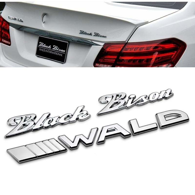 1 шт. 3D металлические наклейки WALD Черный Бизон логотип автомобиля сторона Fender Задний Багажник Эмблемы автомобильные аксессуары для Mercedes-Benz A...
