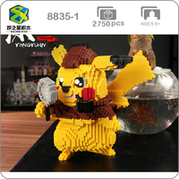 Building Star 8835 1 Detective Pikachu DIY 3D Model Mini Small Blocks Diamond Building Toys for Children no Box