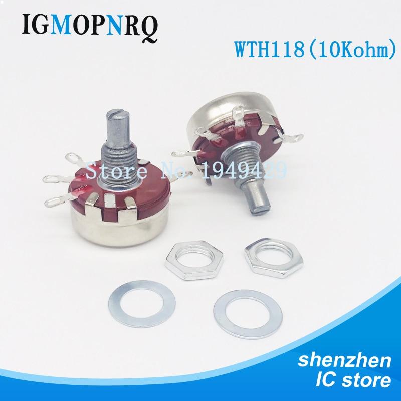 2PCS WTH118 10K 2W 1A Potentiometer New Authentic Variable Resistor VR Resistance 10K Ohm