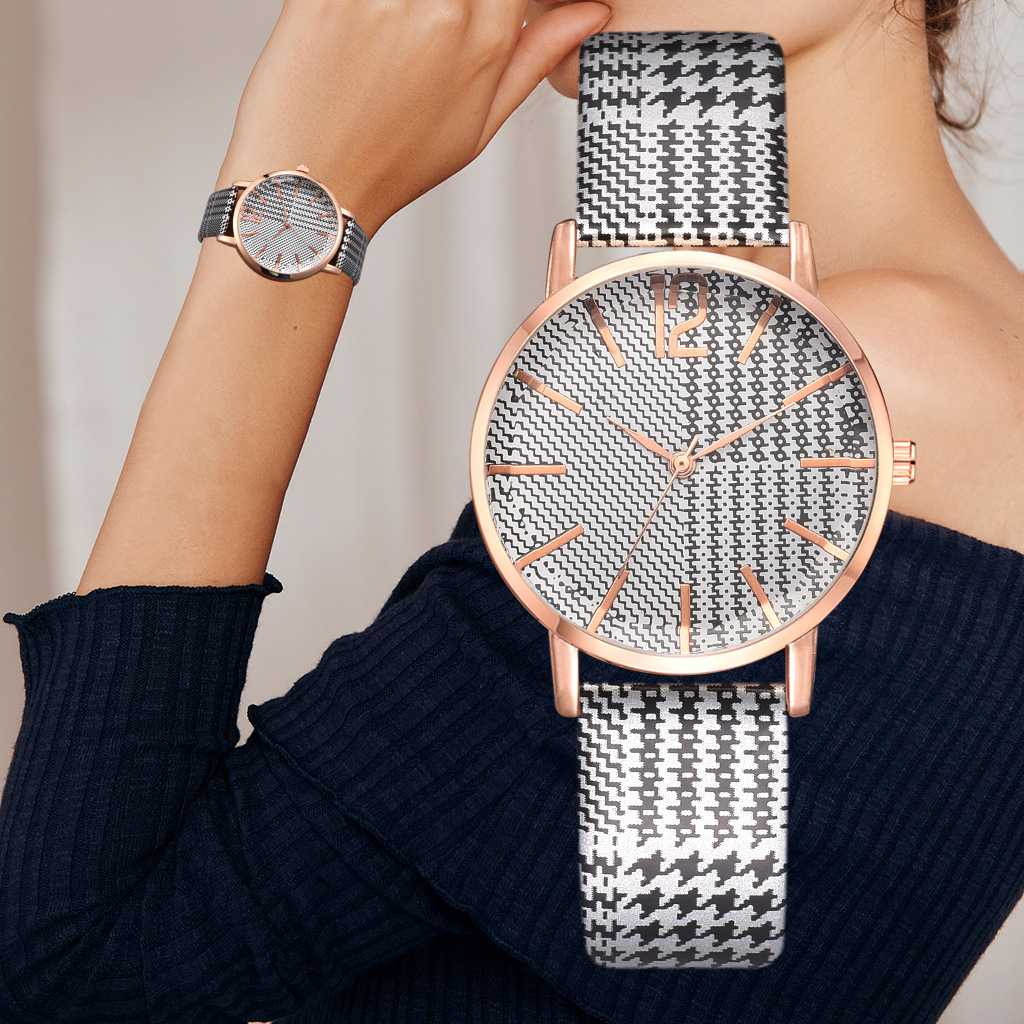 Ladies Watches Casual Female Wrist Clock Polygon Mirror Watches Women Leather Strap Quartz Fashion Line Design Relogio Feminino