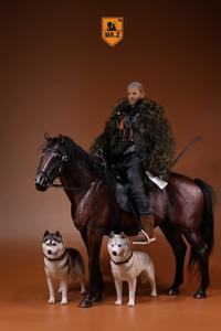 Image 3 - 1/6 soldiers figure Horse model warhorse high 33cm Birthday gift  resin model toy