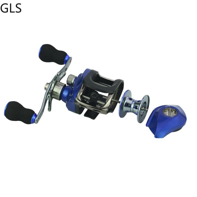 1 freio magnetico de perfil baixo carretel de arremesso 04